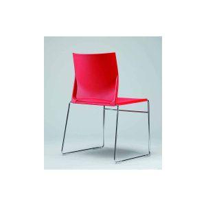 Sid stapelstoel rood